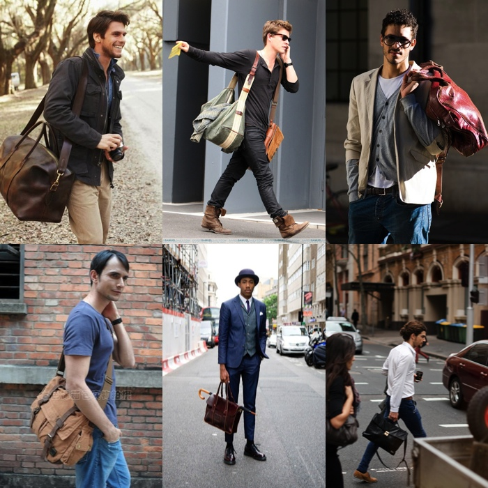 British Style Waterproof Male Bag Oil Wax Canvas Men Messenger ...