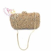 Luxury Crystal Women Clutch 2017 Rhinestone Crystal Luxury Evening Bag Bridal Vintage Clutch Evening Bags Women Flower YLS-F52