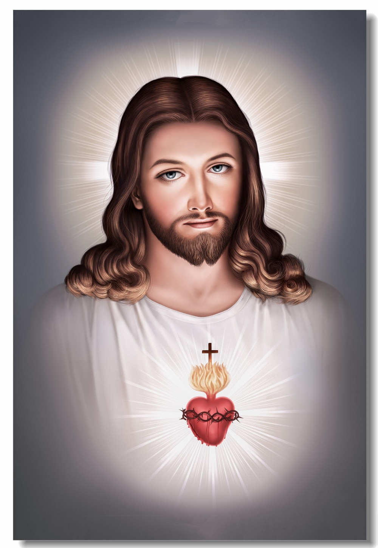 Us 68 Custom Canvas Wall Decor Jezus Christus Poster God Bless Tweede Komende Muursticker Goddelijke Barmhartigheid Behang Slaapkamer Schilderen