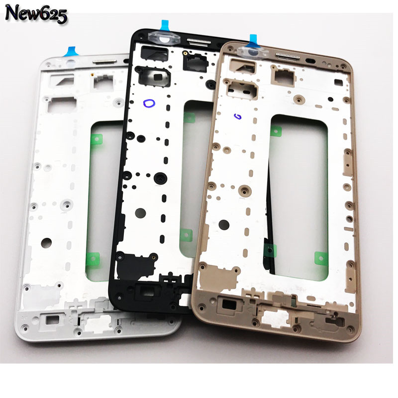 5Pcs/Lot, Original New Front Housing Frame with Adhesive Sticker For Samsung Galaxy J7 Prime / On7 (2016) G610 Replacement Part