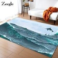 Zeegle Dinosaur Carpet For Living Room Bedroom Floor Mat Bathroom Carpet Anti Slip Tea Table Decor Mat Kids Room Rugs