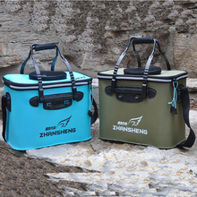 Foldable Fishing Bag Portable Thickened EVA Fish Barrel Multifunctional Hand-held Lifted Fishing Box Fishing Gear Kit folding thickened fishing bucket fish protection outer bucket multi function fishing barrel fishing gear