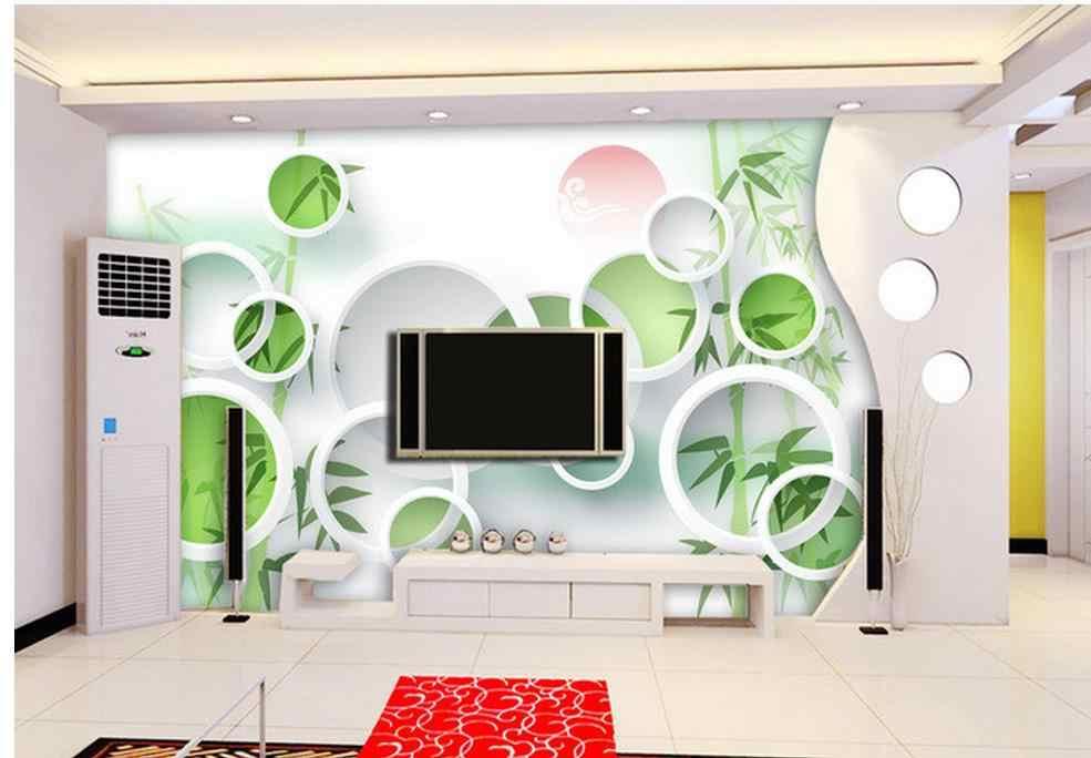 Индивидуальные обои для стен белые обои зеленый бамбук 3D стерео ТВ стены фото обои