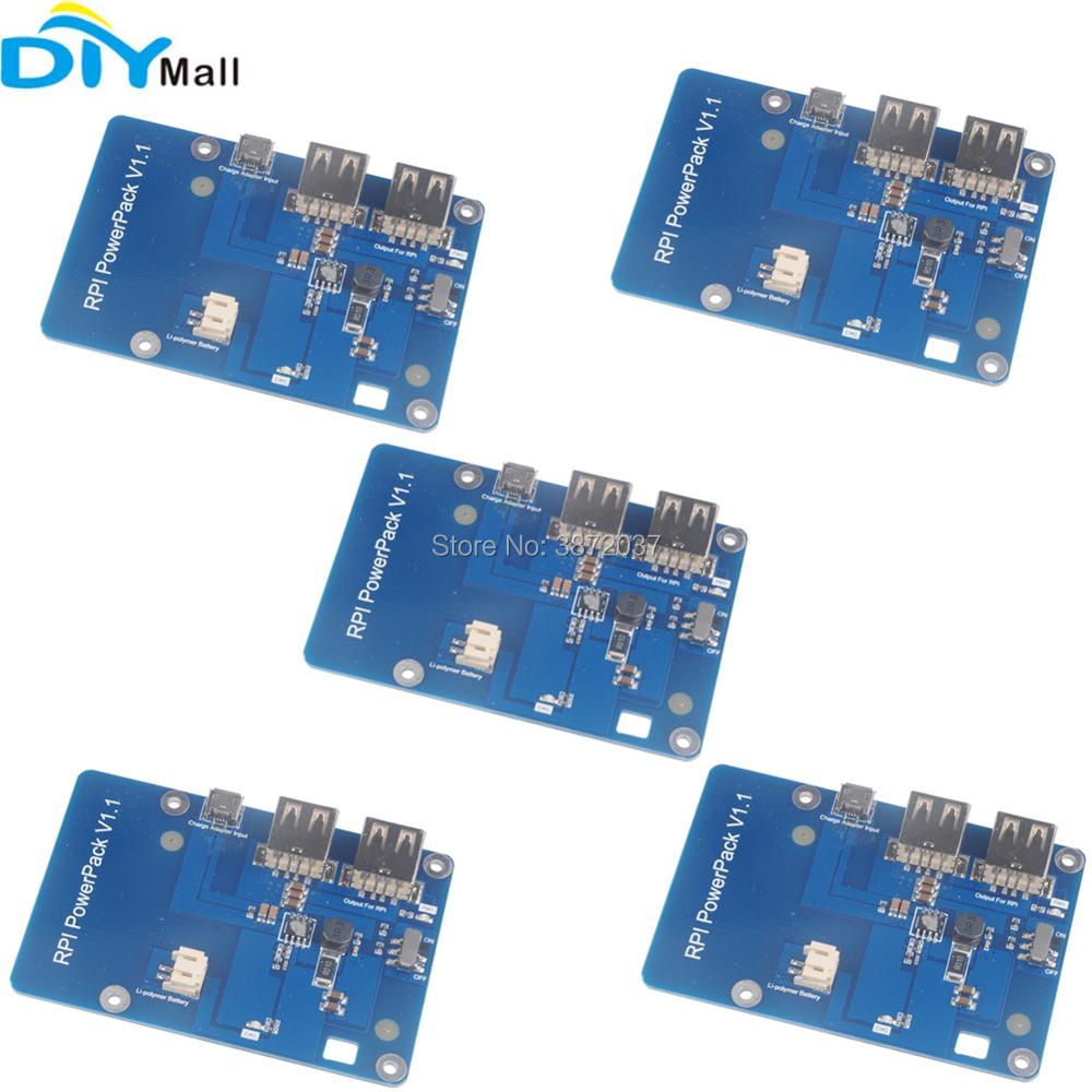 5pcs/lot Lithium <font><b>Battery</b></font> Expansion Board Power Module Dual Double USB for <font><b>Raspberry</b></font> <font><b>Pi</b></font> <font><b>3</b></font> Model B 2 Model B