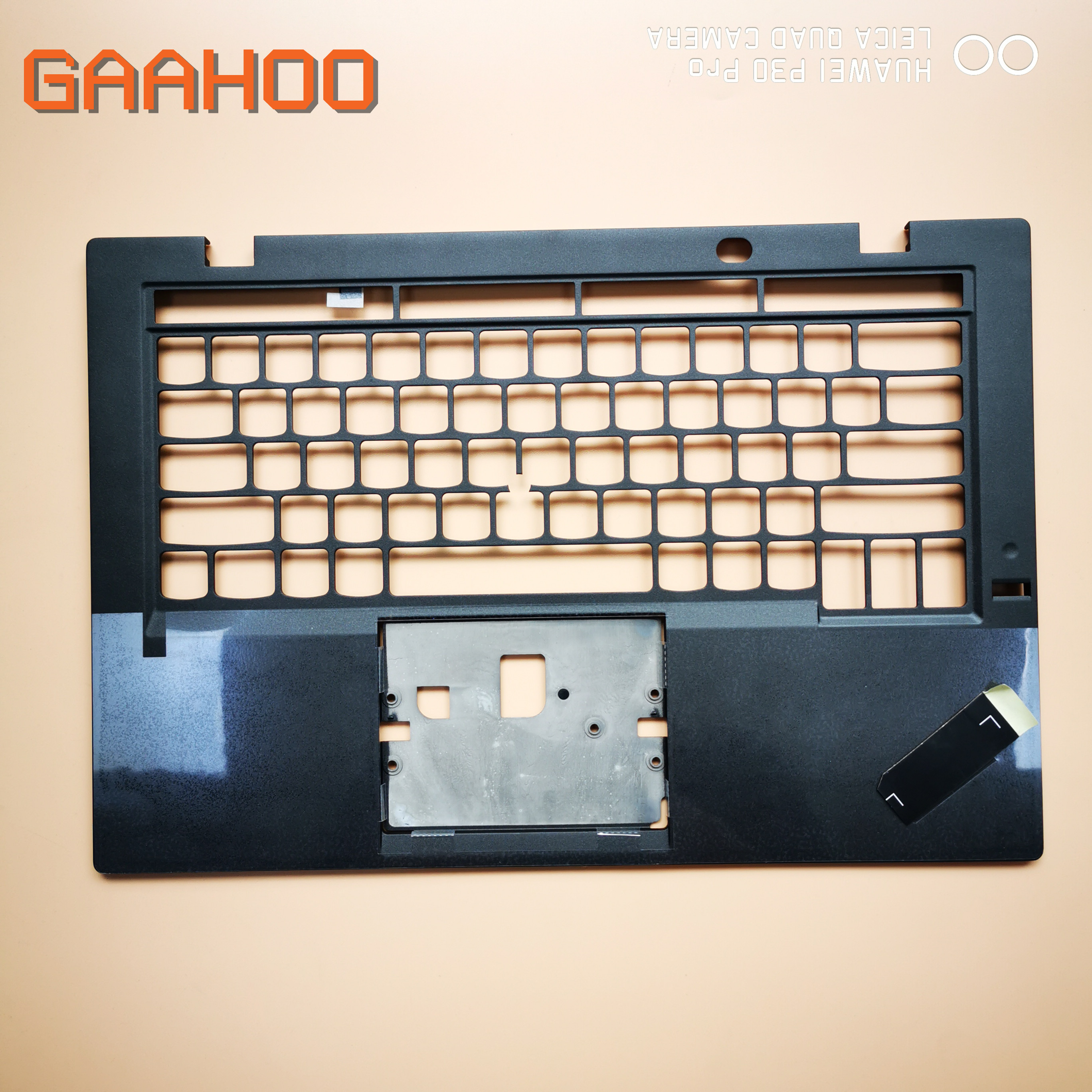 For Lenovo ThinkPad X1 Carbon 3rd 2015 palmrest upper case Keyboard Bezel /w FP hole US layout image