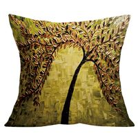 Pillow Watercolor Tree Linen Blend Throw Pillow Case Living Room (style 10)