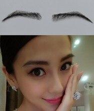 2017 Promotion Sale Sobrancelha Eyebrow Wholesale Jet Color Princess Fake False Made Of 100 Natural Hair