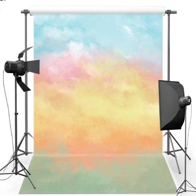 Watercolor Floral Paper Themed Photography Backgrounds Vinyl cloth High quality Computer print wall backdrop paper crease simple colors backgrounds vinyl cloth computer printed wall backdrops
