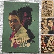 Vintage Paper Retro font b anime b font poster Fight club Poster Brad Pitt Posters cudi