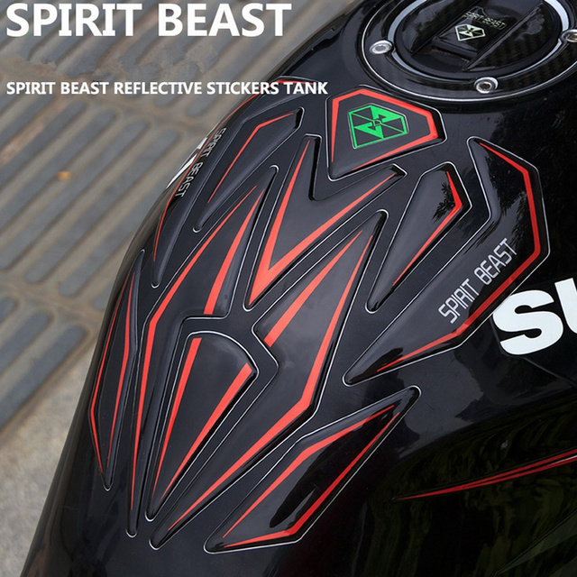 Reflective 3d Motorcycle Sticker Moto Gas Fuel Tank Protector Pad