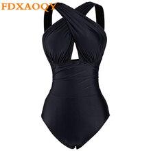 FDXAOQY 2018 Новый Цельный купальник женский купальный костюм сексуальный крест пуш-ап бикини размер XXXXL плюс пляжный комбинезон