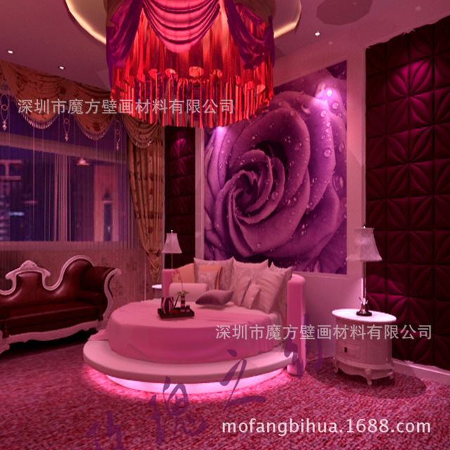 Ktv Rooms Decorated Birthday Theme Wallpaper Mural Couple Cheap Hotel