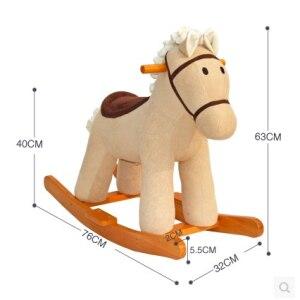 5d864b254 Bebé de música de madera caballo mecedora gorila asiento silla oscilante  animales mecedora juguetes educativos para