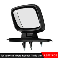 Electric Black Wing Mirror Passenger Side Fit for Vauxhall Vivaro Renault Trafic Van Side Wing Mirror Cover Caps