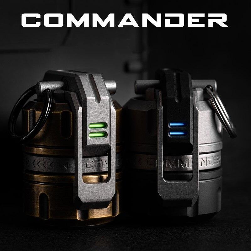 Comandante série nova liga de titânio giroscópio edc equipamento adulto brinquedo descompressão