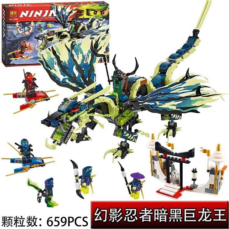 ФОТО 658pcs bela 10400  ninjaphantom ninja attack of the morro dragon building blocks set mini figures baby kit toys