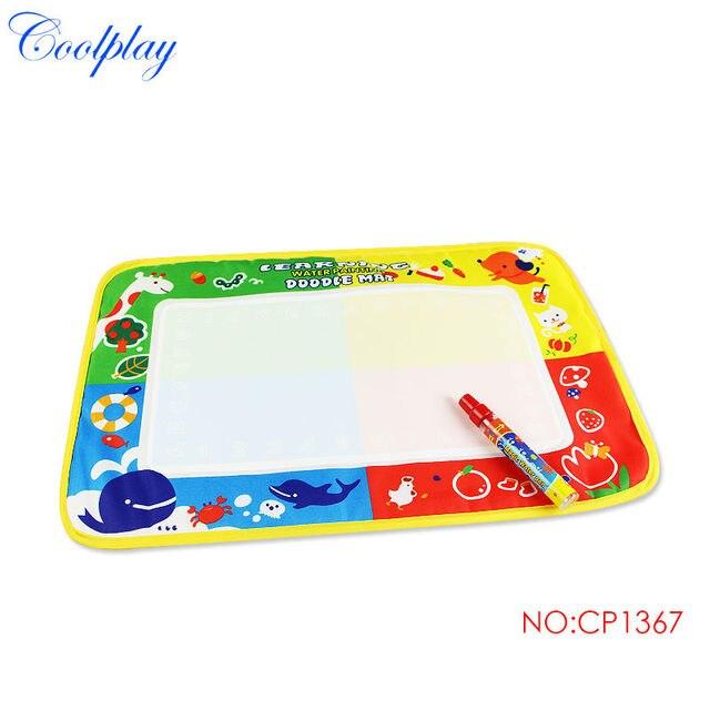 Coolplay CP1367 46X30cm Drawing Toys Mat Aquadoodle Drawing Mat&1 Magic Pen/Water Drawing Replacement Mat