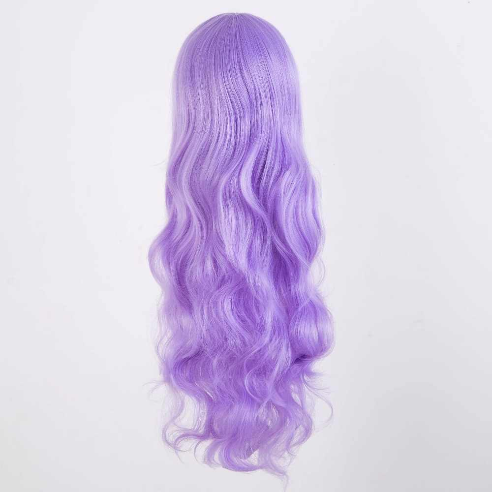 Purple Wig Fei-Show Synthetic Heat Resistant Fiber Lilac Color Carnival Peruca Cos-play Long Curly Hair Female Salon Hairpiece