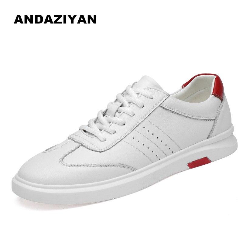 Branco branco Couro De Casuais Masculinos Sapatos Preto E4Rq6wvvn