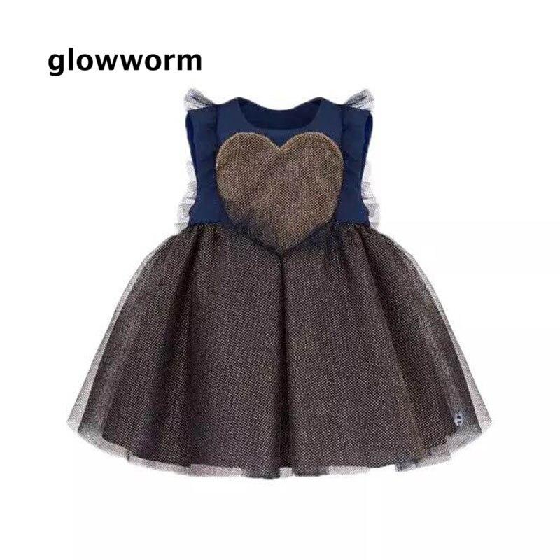 Glowwormkids 2018 Nouveau Automne Tutu Robe Pour Babys Filles Partie D'anniversaire Robe Sans Manches D'été Styledresses pour Filles hs096