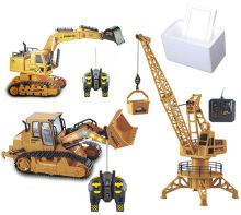 Rc Toys 6 Channel RC Excavator Charging 2.4G 1/12 Car Alloy RTR 6-channel bulldozer For kids