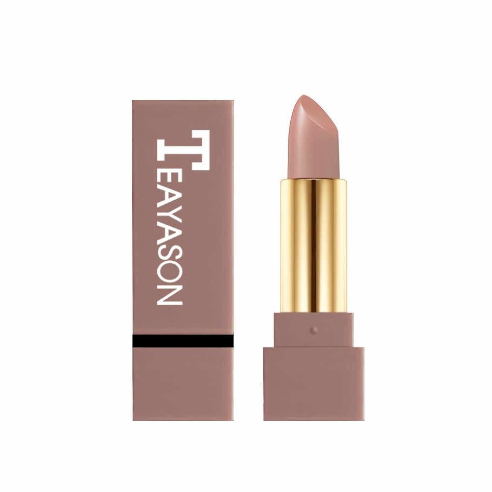 12 צל עירום צבע מט שפתון עמיד למים פיגמנט חום עירום לאורך זמן שפתון מט איפור מט batom Maquillajes G521