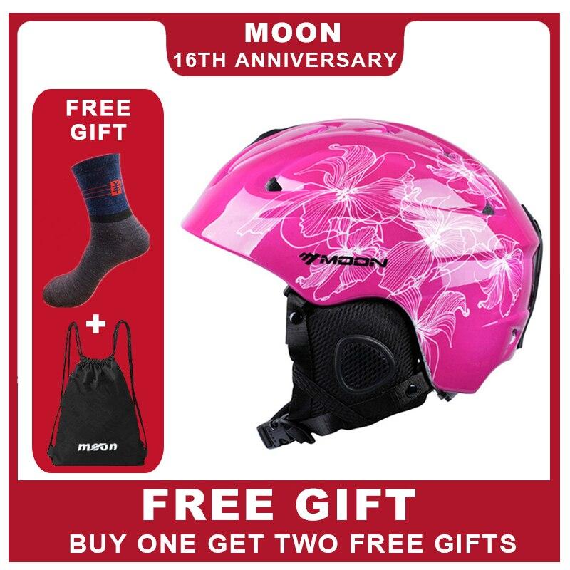 Mond Neueste Stil Ski Helm Ultraleicht Und Integral Geformten Professionelle Skifahren Sport Schnee Sicherheit Helm Freies Shiping Kid Bequem Und Einfach Zu Tragen