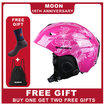 MOON Newest Style Ski Helmet Ultralight and Integrally-molded Professional Skiing Sports Snow Safety Helmet Free Shiping Kid