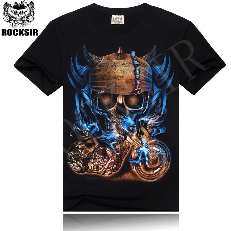 T-shirt mannen merk Kleding 3D-gedrukte dood t-shirt korte mouwen T-shirts bedrukt schedel T-shirt rockband tees