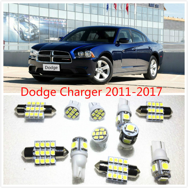 11 Set White Led Lights Interior Package 10 31mm Map Dome For Dodge Charger Journey Avenger Caliber 2017