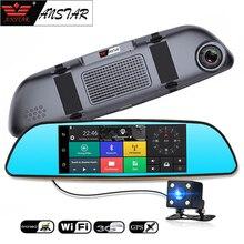 ANSTAR Cámara Android 5.0 Espejo Retrovisor de COCHE DVR 3G Coche cámara Bluetooth Dual lente Dash cam GPS Navigator Grabadora de Vídeo Wifi