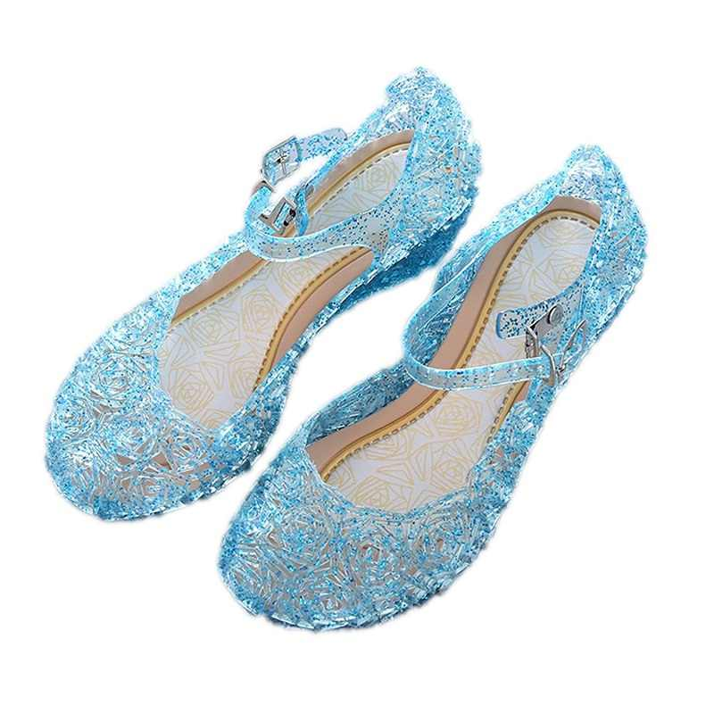 785ff87e8610a VOGUEON Girls Summer Sandals Princess Elsa Buckle Crystal PVC Baby Kids  Birthday Party Cosplay Accessories Girl