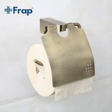 Frap Antique Bronze Cover Toilet  Paper Towel Holder Space Aluminium Mounting Seat F1403