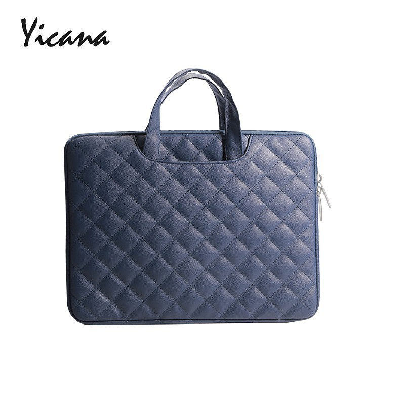 Free Shipping Fashion 11 13 14 15.6 inch Laptop Sleeve Handle bag Pu Leather Laptop Case for Macbook Air Pro Retina 11.6 13 15.4 notebook bag 12 13 3 15 6 inch for macbook air 13 case laptop case sleeve for macbook pro 13 pu leather women 14 inch