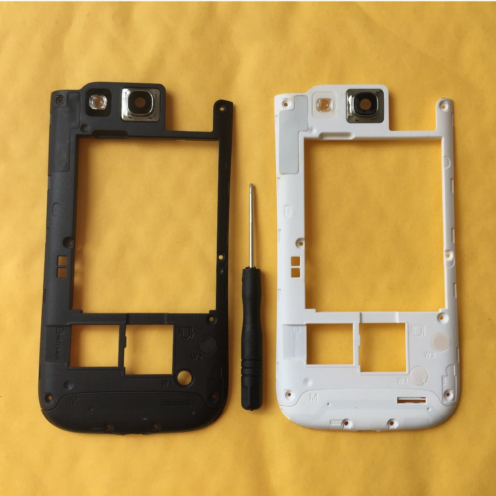 For Samsung Galaxy S3 S III I9300 I9305 Mobile Phone Housing Rear Frame Lid Back Cover With Camera Glass Lens + Tool