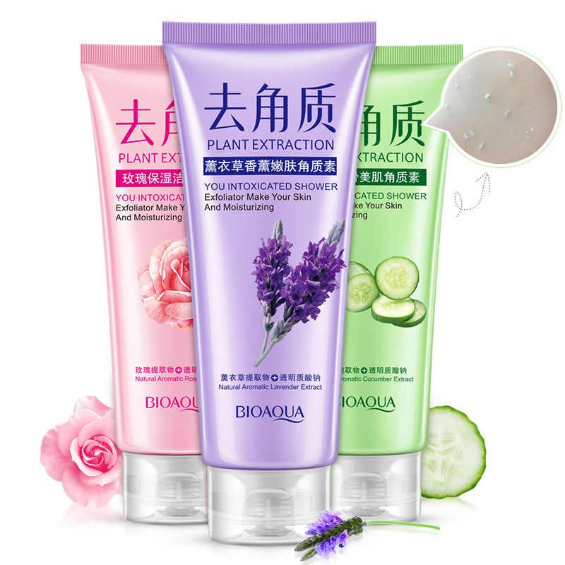 BIOAQUA Lavendel duft zarte haut exfoliat Gesichts peeling hautpflege fase tiefe saubere haut schönheit muskel hautpflege produkt