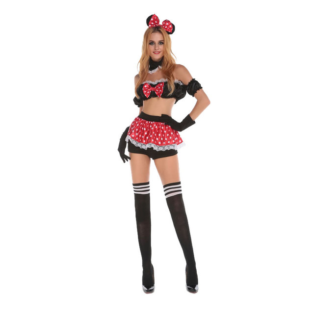 bb144e9826 New Sexy Cosplay Fantasy Mouse Costume Cute Adult Costumes Outfit Exotic  Apparel Women Fantasia Halloween Costumes