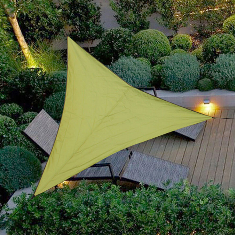 Garden Supplies 3/4/6m Trilateral Shade Sail Net Cloth Outdoor Swimming Pool Waterproof Sun Shade Sail Prevent Uv Canopy Garden Awning Cover Cap Great Varieties