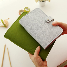 лучшая цена TUNACOCO Felt shell fabric note book loose leaf inner core A6 A5 notebook diary plan binder office supplies ring binder
