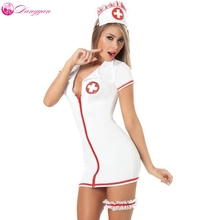 DangYan plus size sexy teddy nurse costume with leg belt SM Cosplay sexy costumes erotic dress adult sexy lingerie(China)