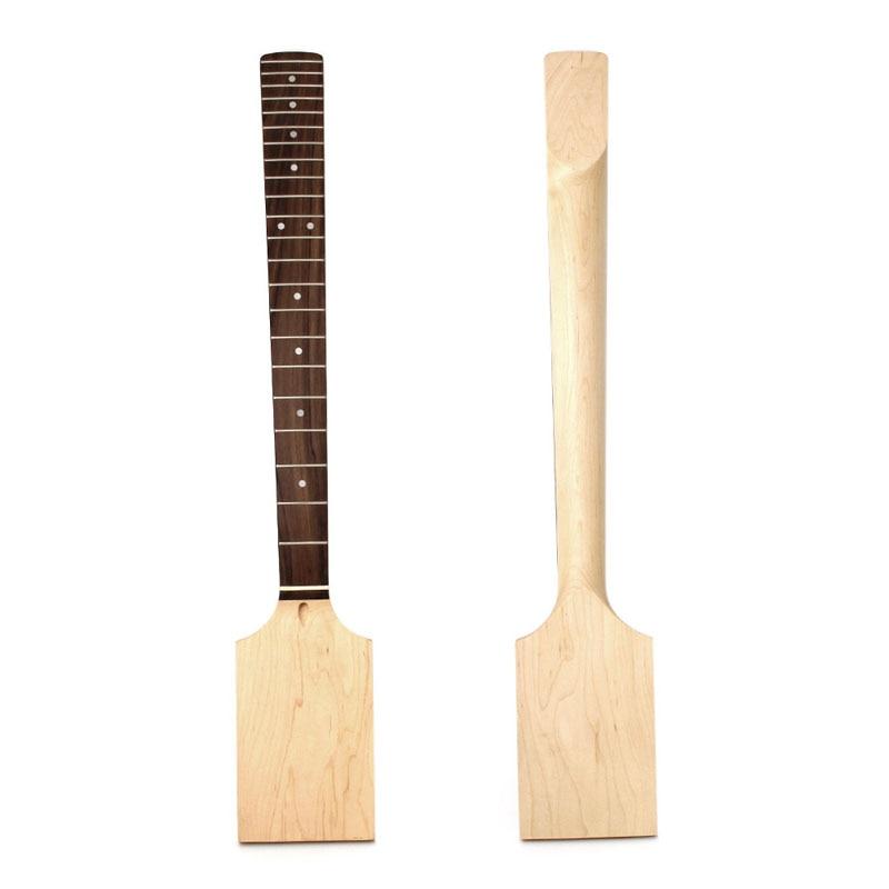 1 pc Chaude 22 Fret Guitare Électrique Cou Paddle Tête En Bois D'érable Boulon Inachevé