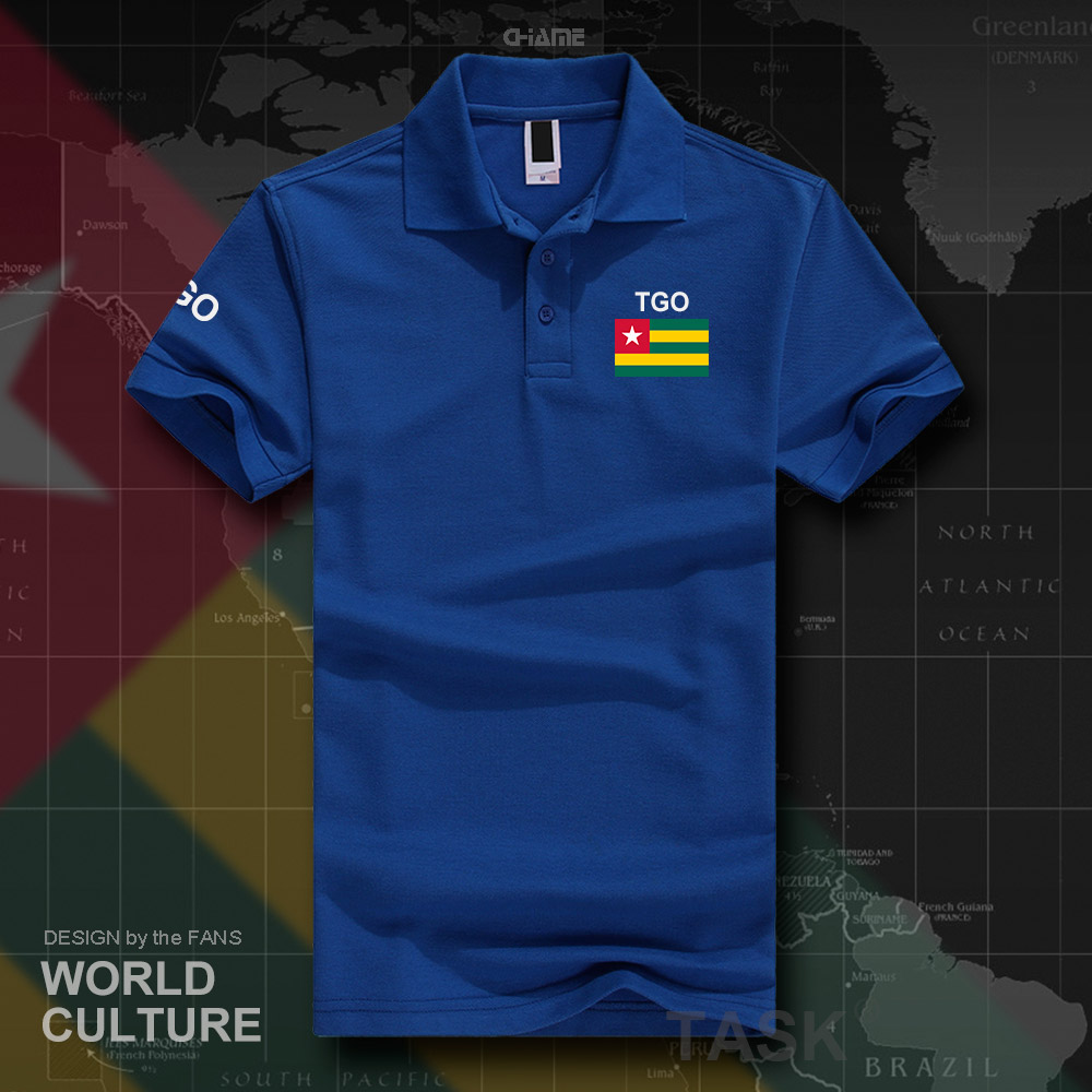 Togo Togolese Togolaise   polo   shirts men short sleeve white brands printed for country 2017 cotton nation team flag new TG TGO