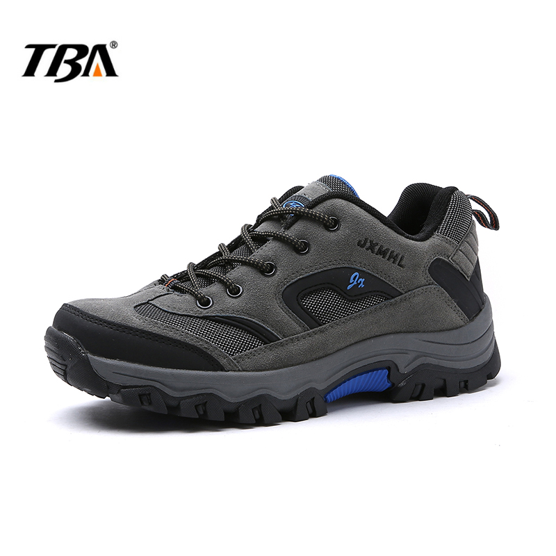 2017 TBA Man Hiking Shoes hard wearing Sport Mountain Hunting Athletic Outdoor Waterproof Climbing Shoes