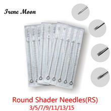 50pcs Assorted Sterilized Tattoo Needles 3/5/7/9/11/13/15RS Round Shadering Professional Machine Supplies