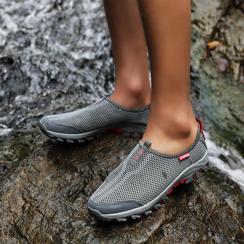 f4d5eca8f ... Womens Breathable Slip On Sport Walking Shoes Women Outdoor Sport  Sneakers for Men Breathability Air Platform ...