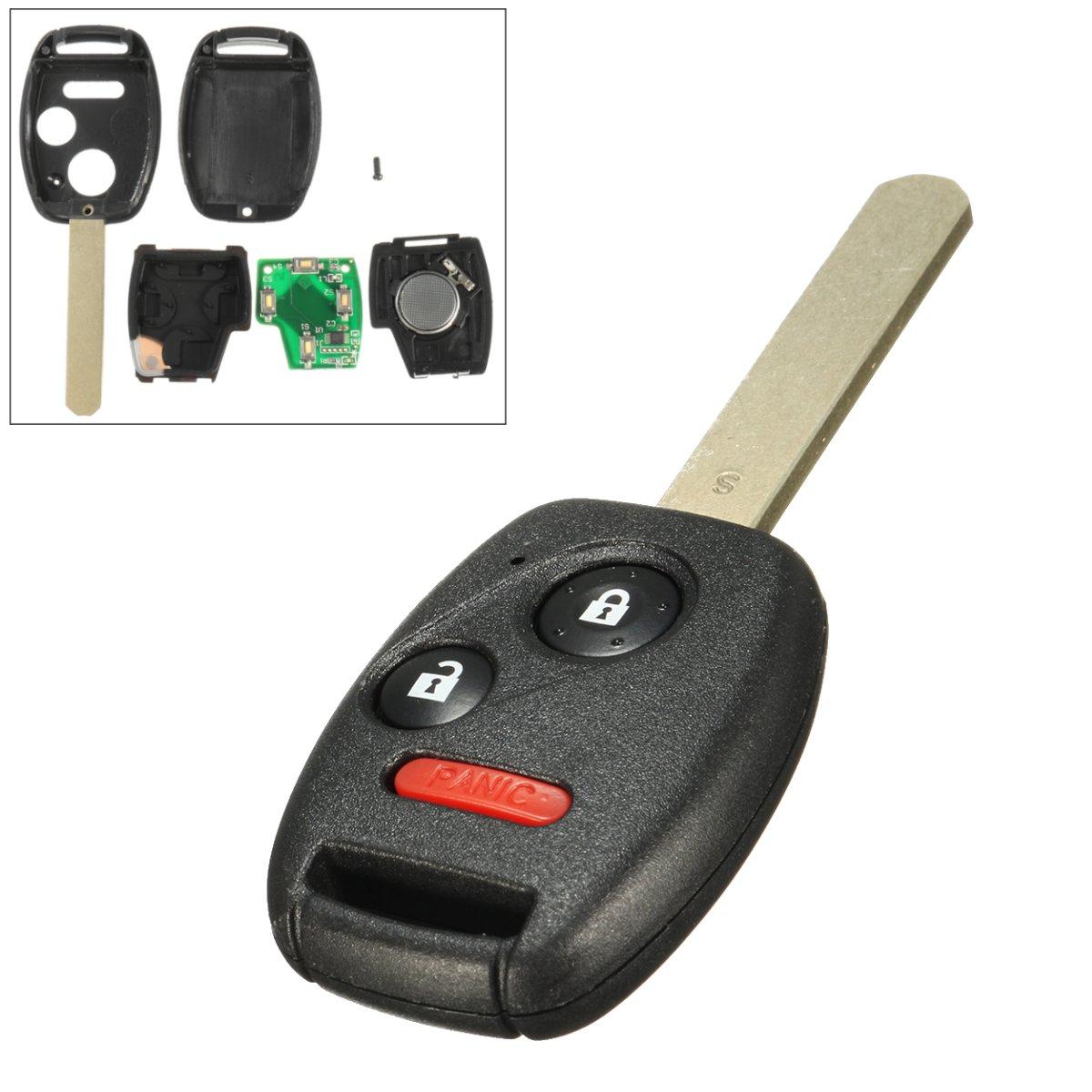 Llave de reemplazo sin cortar remoto Keyless entrada key FOB con ID46 chip para Honda 2005-2008 piloto CWTWB1U545