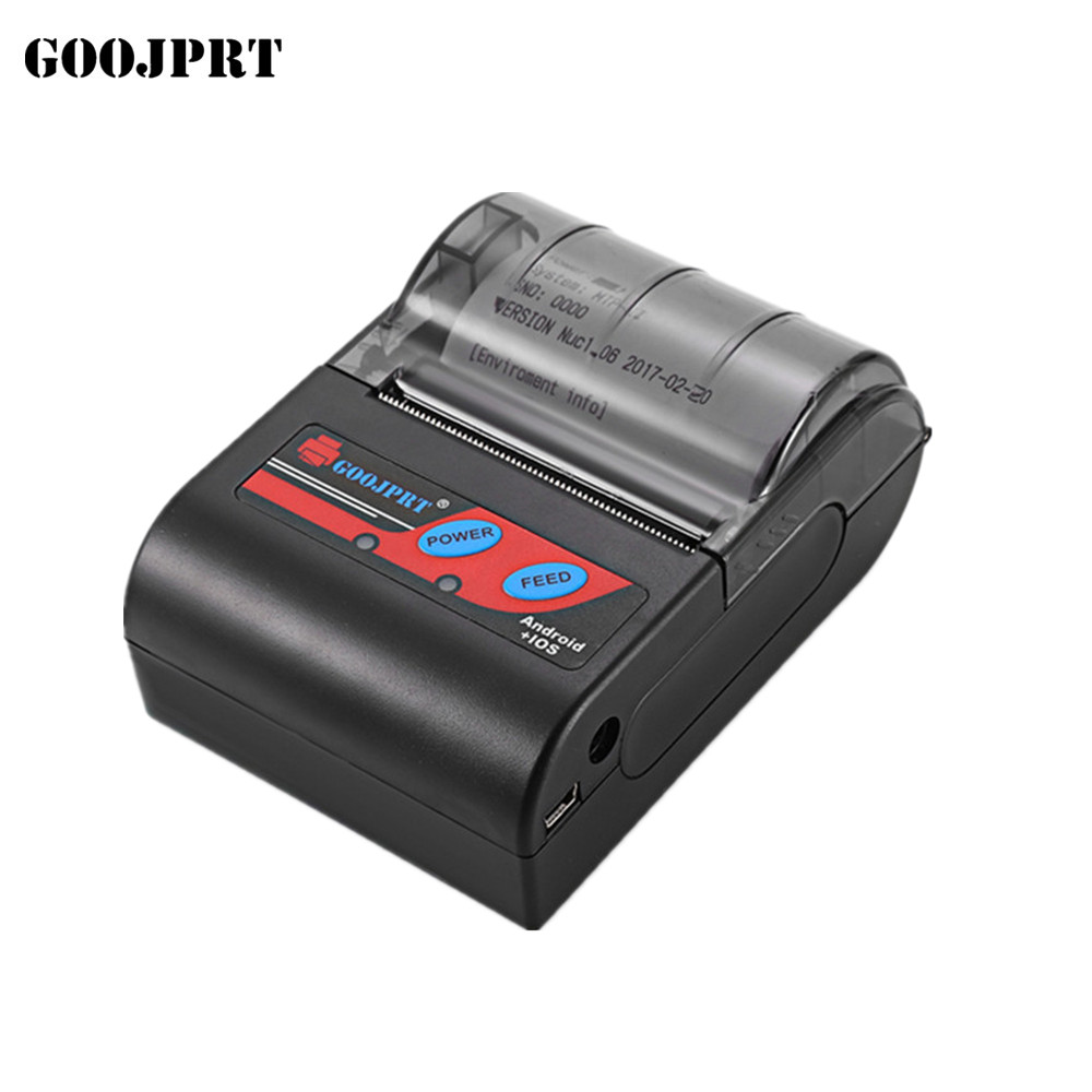 все цены на Free shipping 58MM Bluetooth Thermal Portable/Mobile Receipt Printer support android  IOS онлайн