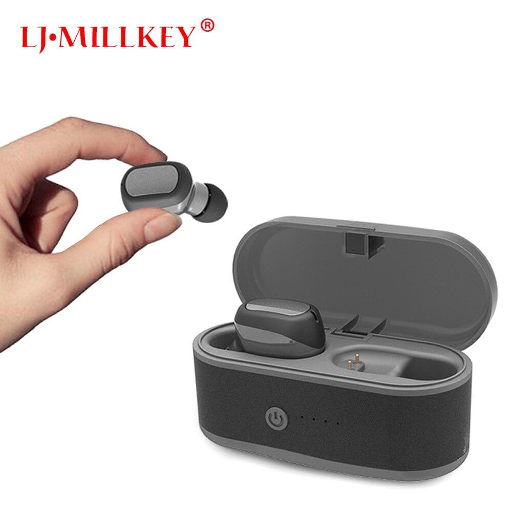 2019 NEW Fingerprint touch TWS 5.0 Bluetooth headphone 3D stereo wireless earphone with dual microphone LJ-MILLKEY YZ237