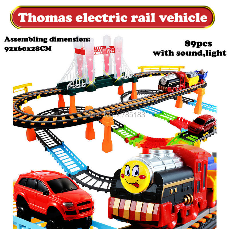 Thomas and FriendsTwo-layer Spiral Track Roller Coaster Toy DIY Electric Rail Car Electric Trains Rail Car Baby Railway Toys