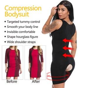 Image 4 - Vaslanda mulheres pós natal pós parto bodysuits emagrecimento roupa interior recuperar shapewear cintura espartilho bumbum levantador shaper